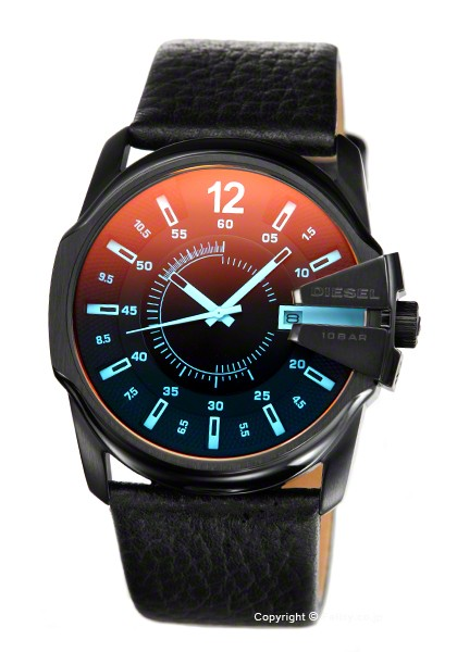 ディーゼル メンズ腕時計 マスターチーフ ブラッ...