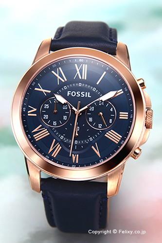 FOSSIL フォッシル 腕時計 FS4835 グラント ネイ...