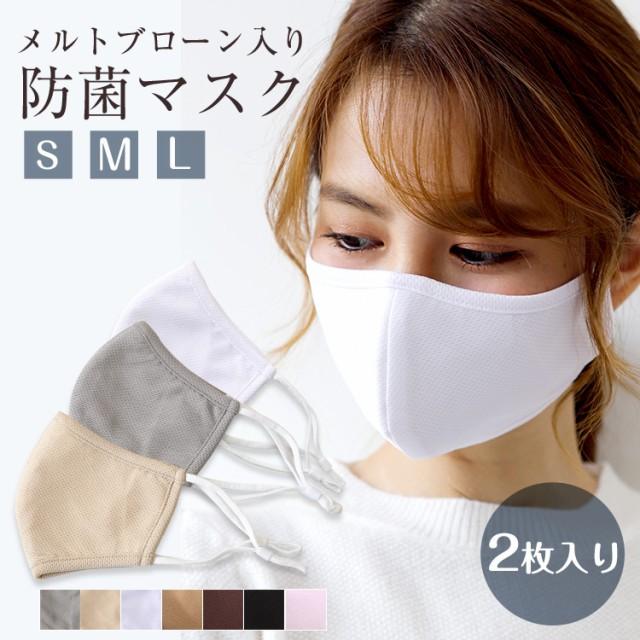 マスク  洗えるマスク メルトブローンフィルター入り 布マスク 【2枚入り】立体構造 飛沫防止 蒸れ防止 3層構造 防菌 防臭  送料無料  新