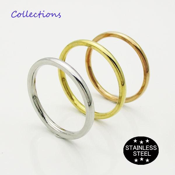 ステンレス リング (19) 選択可 金色 銀色 ピンク...