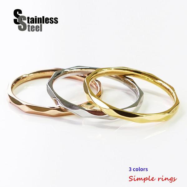 ステンレス リング(48) (メイン) 銀色 金色 ピン...