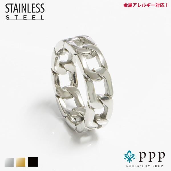 ステンレス リング(78)喜平チェーン 銀色 メイン ...