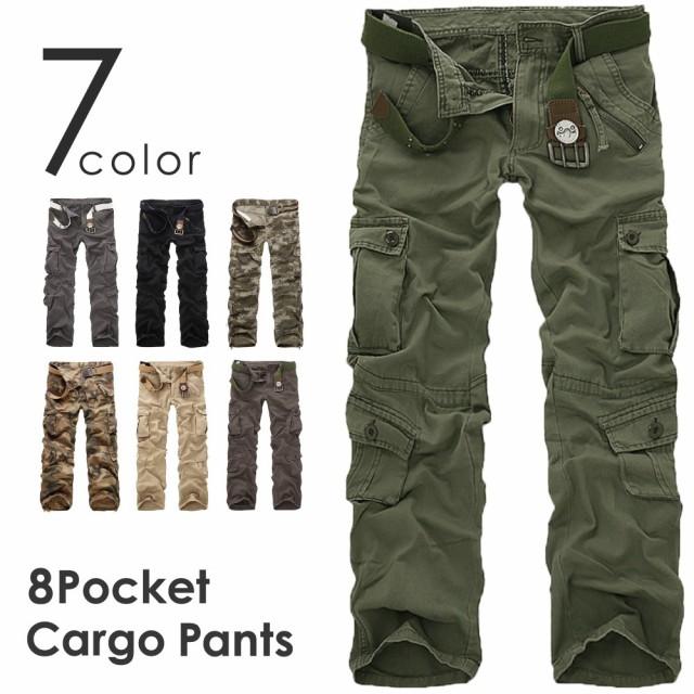 7color カーゴパンツ 8ポケット ミリタリーパンツ...
