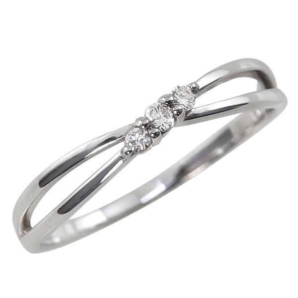 Pt900 ダイヤモンドリング スリーストーン 指輪 ...