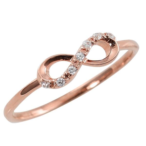 インフィニティリング 10金 指輪 無限モチーフ ∞...