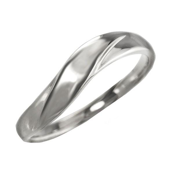 メンズリング プラチナ 指輪 ウェーブライン Pt90...
