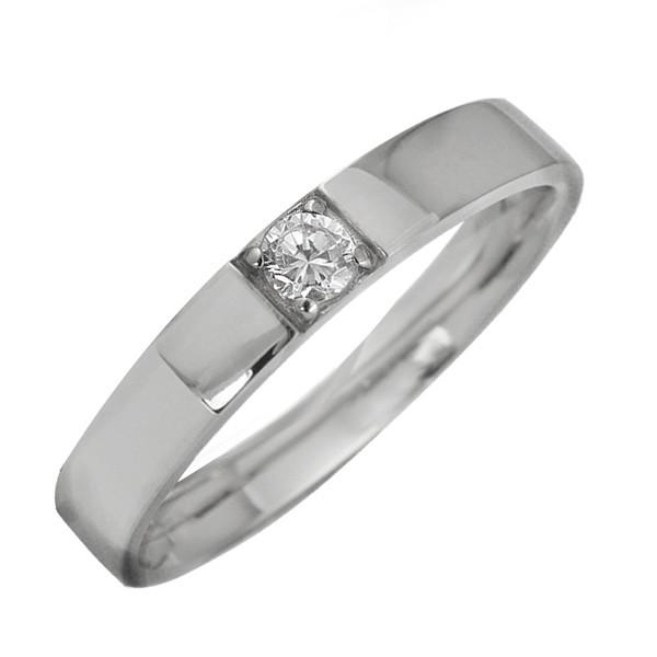 プラチナ 指輪 天然ダイヤモンド 一粒石 レディー...
