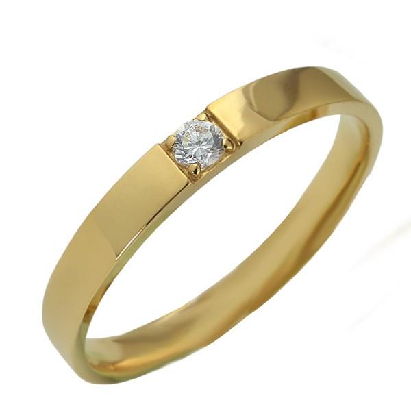 メンズリング 10金 指輪 天然ダイヤモンド 一粒石...