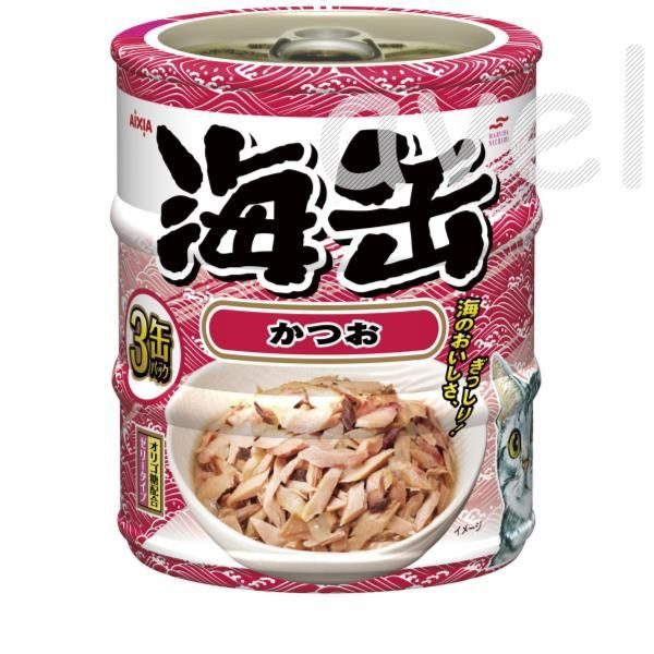 アイシア 海缶ミニ3P かつお 60g×3 《...