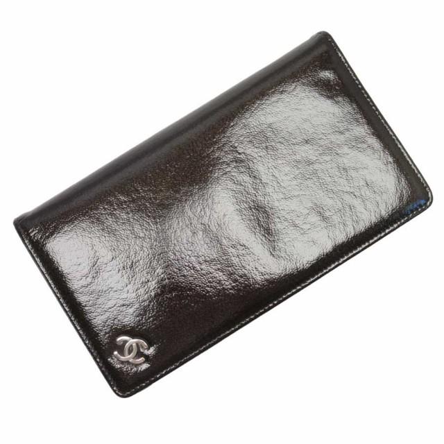 d303527ea90e 【定番人気】【中古】シャネル 二つ折り長財布 ココマーク レディース ダーク