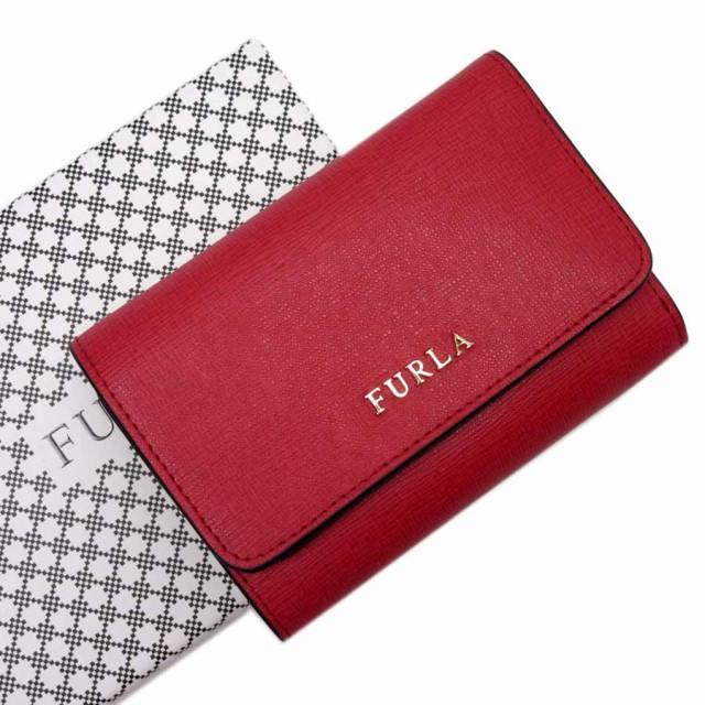 【新品同様】【中古】フルラ 三つ折り財布   レデ...