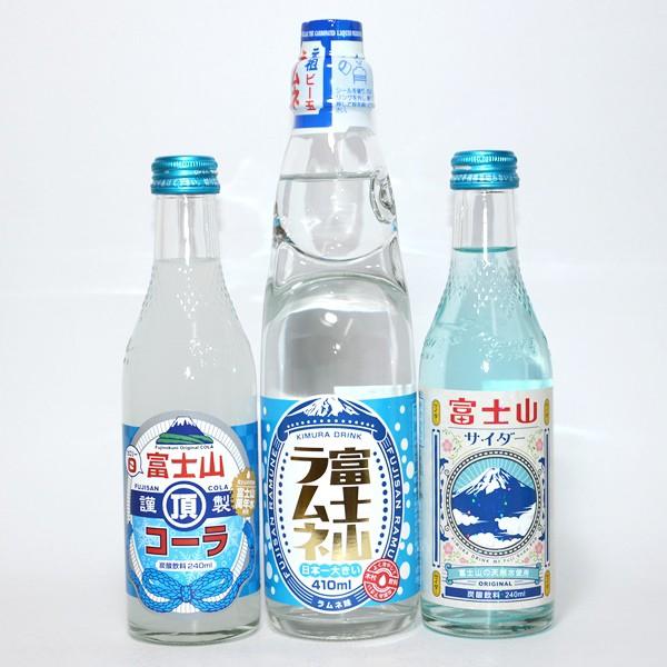 日本一!富士山サイダー・ラムネ・コーラ3本セッ...