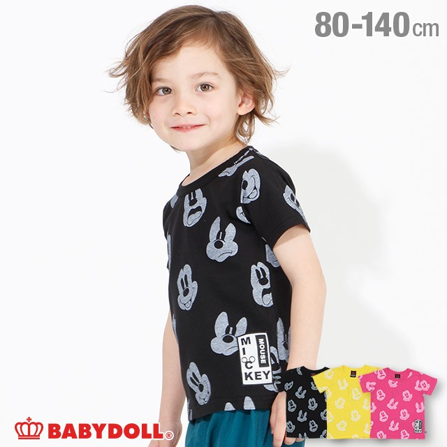 3/11NEW ディズニー フェイス 総柄 Tシャツ 3759K...