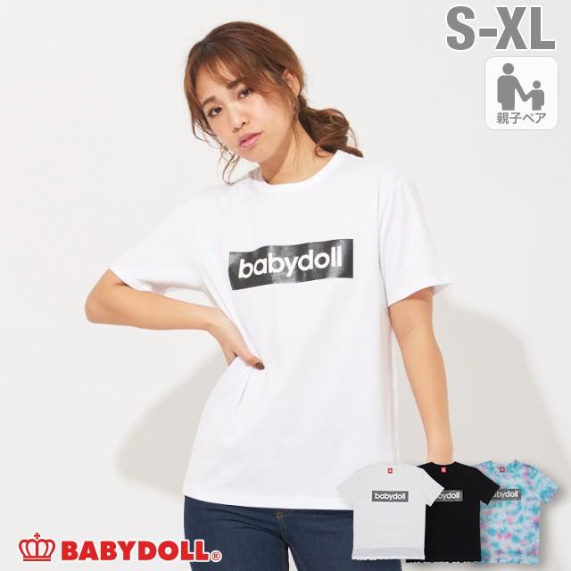 3/11NEW 親子お揃い ボックス ロゴ Tシャツ 3787A...