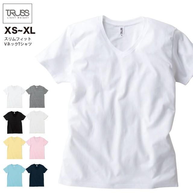 スリムフィット VネックTシャツ#SFV-113 XS~XL フ...