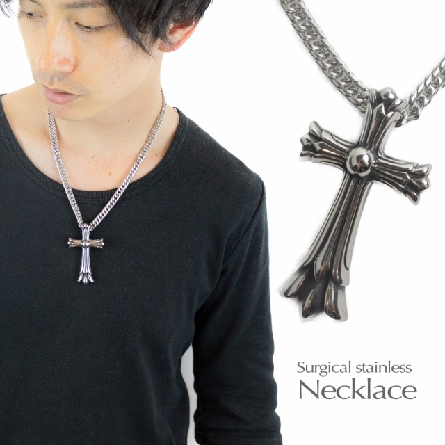 ネックレス クロス 十字架 サージカルステンレス...