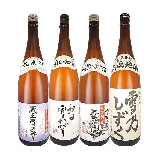 純米酒も入った東北地酒+新潟地酒4本セット 1800m...