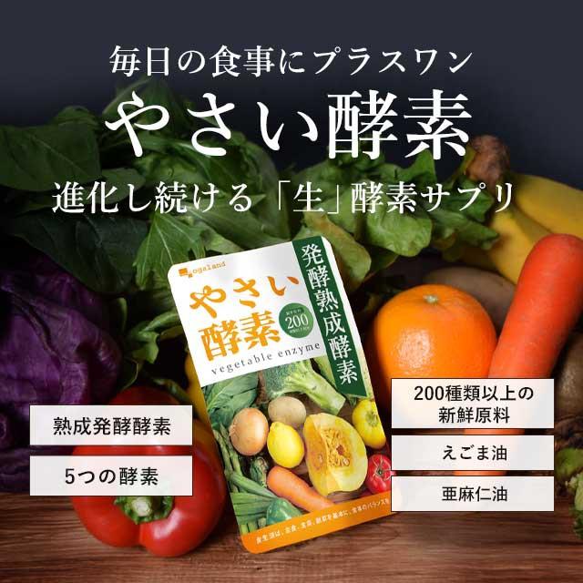 累計100万個突破!やさい酵素(約3ヶ月分) ダイエット 酵素 サプリ サプリメント 生酵素 野菜 野菜不足 _JD _JH _