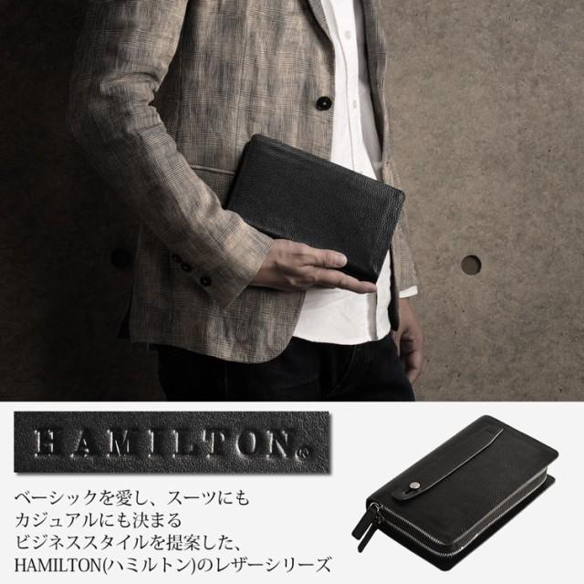 [HAMILTON] ハミルトン 牛革 セカンドバッグ ダブ...
