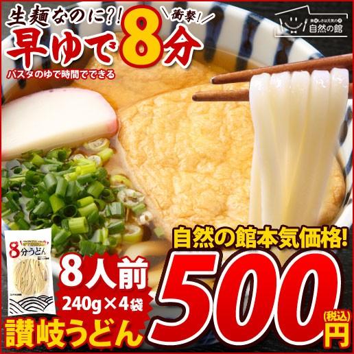 クーポン配布中▼ 本場讃岐うどん 8人前(240g×4...