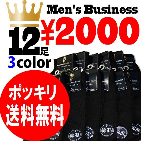 ポッキリ送料無料 紳士ビジネス靴下12足組 メ...