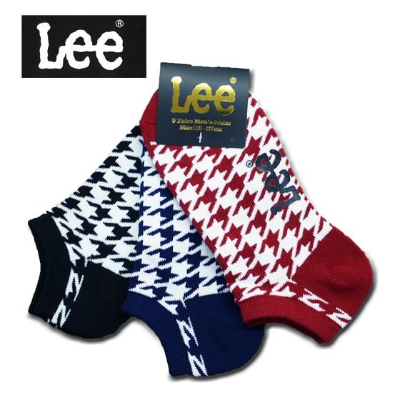 Lee メンズ3Pソックス 千鳥SX size:25-27
