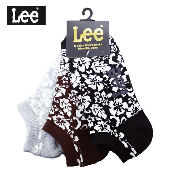 Lee メンズ3Pソックス SNアロハSX size:25-27
