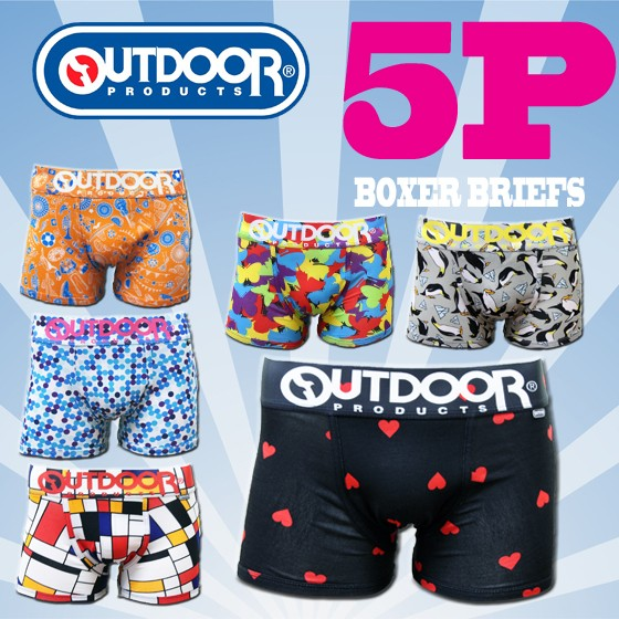 【OUT5枚】OUTDOORボクサーパンツ 太ゴム限定 5...
