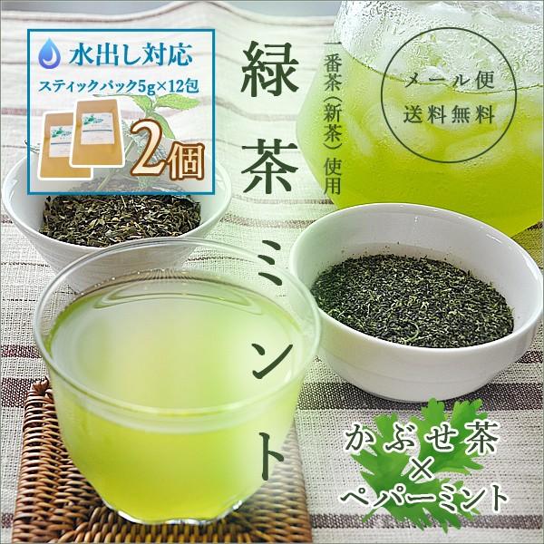 水出し 緑茶ミント かぶせ茶×ペパーミント ステ...