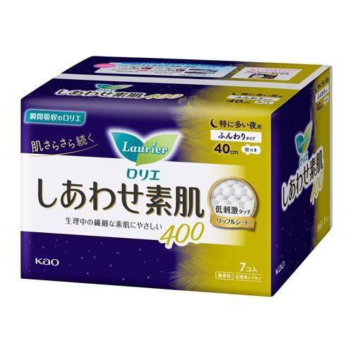 ロリエ しあわせ素肌 特に多い夜用 羽つき400(7コ...