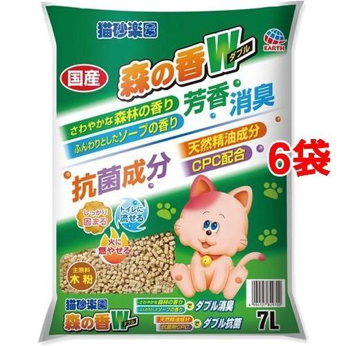 猫砂楽園 森の香ダブル(7L*6袋セット)[猫砂・猫ト...
