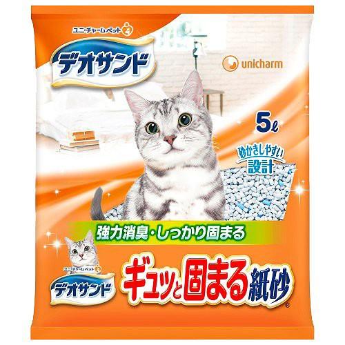 デオサンド 紙砂(5L)[猫砂・猫トイレ用品]