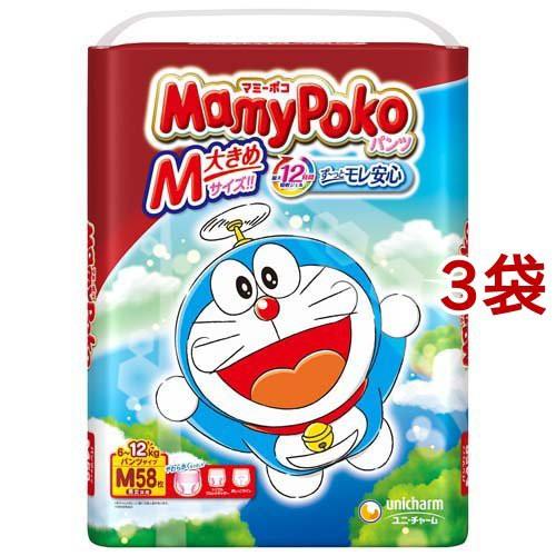 マミーポコ パンツ M ドラえもん(58枚入*3袋セッ...