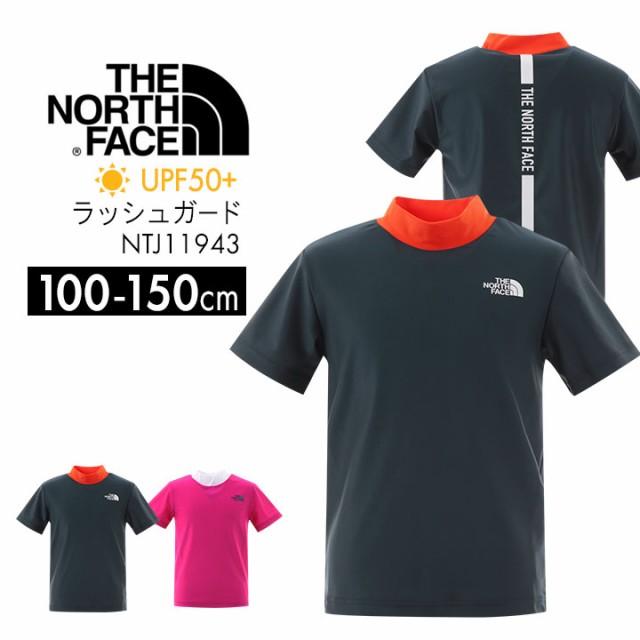 ◆ノースフェイス ラッシュガード キッズ 男の子 女の子 100 110 120 130 140 150cm ネイビー ピンク ロゴ  半袖ラッシュガード プール