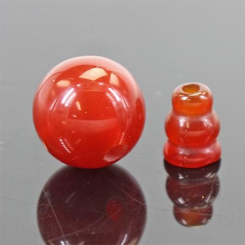 天然石 数珠パーツ 親玉 ボサ 念珠 親珠約12mm カ...