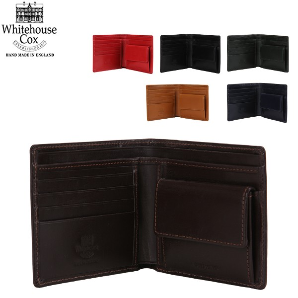 [あす着] Whitehouse Cox ホワイトハウスコックス Wallet Coin Purse CLOSE 10cm × 11cm OPEN 10cm × 22.5cm S7532 財布