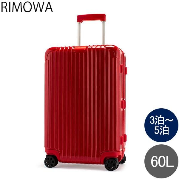 [あす着] リモワ RIMOWA エッセンシャル 83263654 チェックイン M 60L 4輪 スーツケース グロスレッド