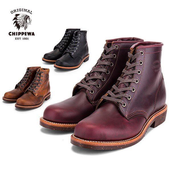 [あす着]チペワ Chippewa ブーツ メンズ 6インチ ユーティリティーブーツ Dワイズ プレーントゥ 1901M General Utility ワークブーツ