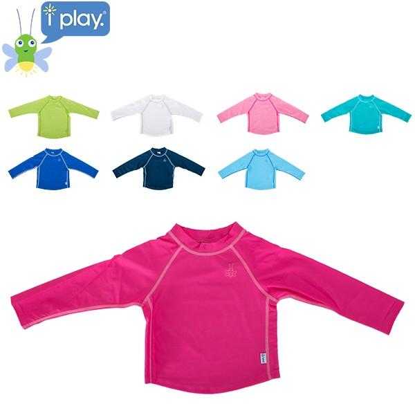 アイプレイ Iplay ラッシュガード 長袖 ベビー キッズ 750103 Long Sleeve Rashguard Shirt 紫外線対策 UVカット 水着 子供