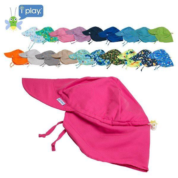 アイプレイ Iplay 帽子 サンウェア フラップ付 紫外線防止 UVカット キャップ Flap Sun Protection Hat アウトドア べビー 赤ちゃん