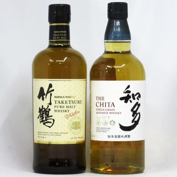 竹鶴 ホワイト / 知多 700ml NV (箱なし) 2本飲...