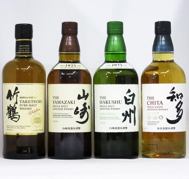 竹鶴 ホワイト/山崎/白州/知多 NV 700ml 4本飲み...