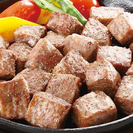 牛サイコロステーキ(成型肉) 1kg (pr)(72151)バー...