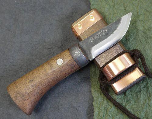 土居良明作 ミニ剣鉈 両刃 2寸 60mm 先フ型...
