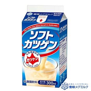 ソフトカツゲン 300ml 10本 / 北海道地元ジュース 雪印メグミルク ご当地 ドリンク【冷】