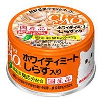 チャオ ホワイティ しらす入り 缶詰 85g 【いなば...