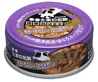 食通たまの伝説 まぐろ・にぼし 缶詰 80g 【ウェ...