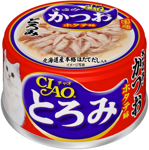 チャオ とろみ ささみ・かつお ホタテ味 缶詰 80g...