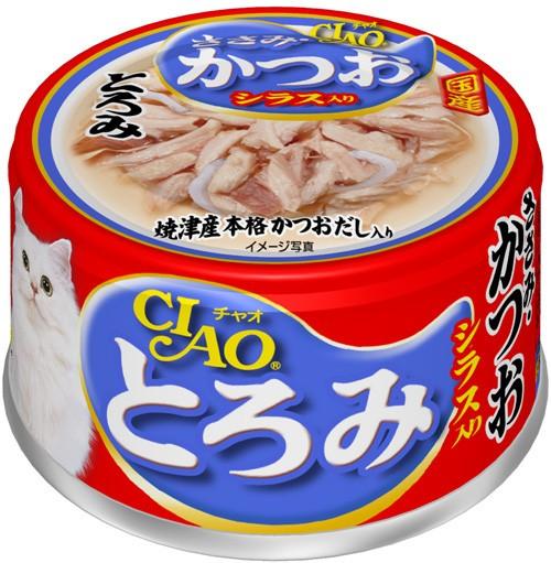 チャオ とろみ ささみ・かつお シラス入り 缶詰 8...