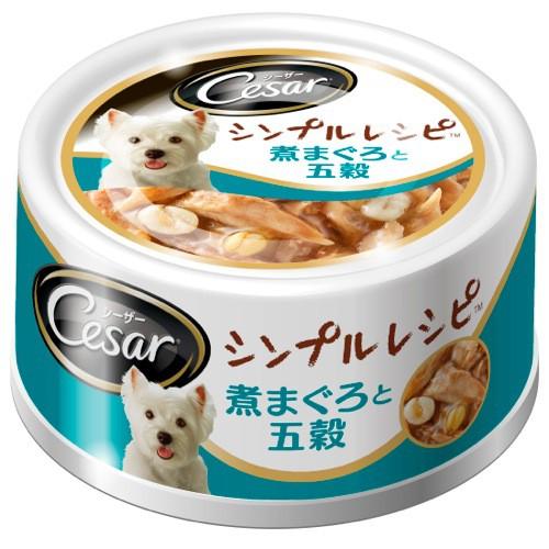 シーザー シンプルレシピ 煮まぐろと五穀 80g 【...